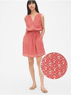 Sleeveless Tie-Waist Shirtdress 24d399141f