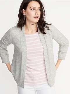 152d9abe4e0aed Plush-Knit Open-Front Sweater for Women