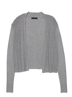 07c20c63489d Silk Cotton Cropped Cardigan Sweater