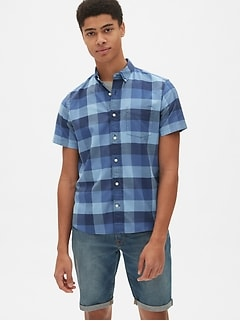 2e6b68f3907 Lived-In Stretch Oxford Short Sleeve Shirt