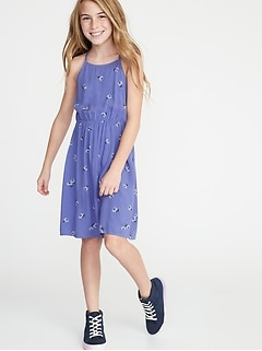 07c95181737 Printed Fit   Flare Cami Dress for Girls