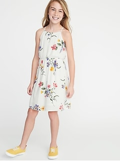 7a85a2e96574 Printed Fit   Flare Cami Dress for Girls