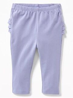 4ae810f3e Ruffled-Back Jersey Leggings for Baby