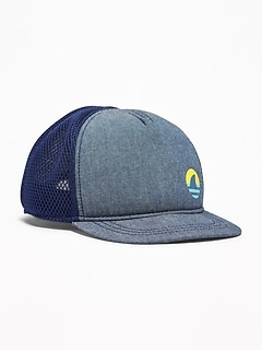 4435fef778f Graphic Chambray Trucker Hat for Toddler Boys