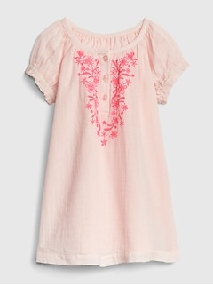 d072aede5d2 Baby Embroidered Puff-Sleeve Dress