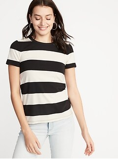 878c0853ffc Slim-Fit Striped Tee for Women