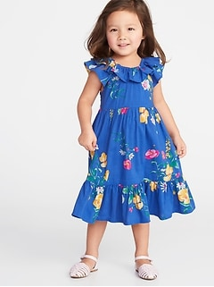 db910f73a9e Floral Tiered Swing Dress for Toddler Girls