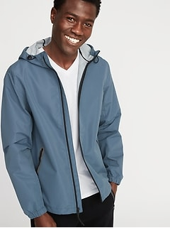 6bc8c7d2ec278 Go-H20 Water-Resistant Hooded Rain Jacket for Men