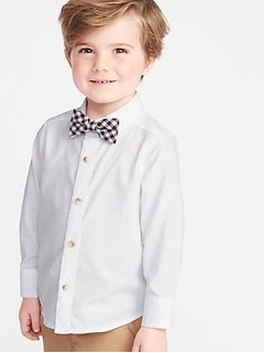 fb80753cfb Long-Sleeve Shirt   Printed Bow-Tie Set for Toddler Boys