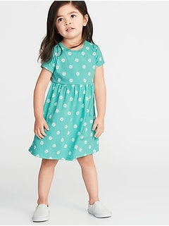 19b7e4e06095 Jersey Fit   Flare Dress for Toddler Girls