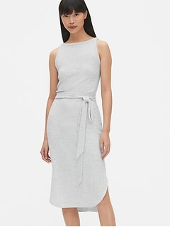7e18305be318c Softspun Sleeveless Tie-Belt Midi Dress