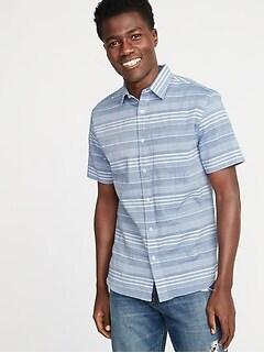 06eff9e8e9d2c Slim-Fit Textured Dobby-Stripe Shirt for Men