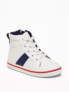 710e3998e9 Perforated Faux-Leather High-Tops for Toddler Boys