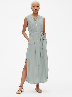 b2c3f032d24d Perfect Sleeveless Maxi Shirtdress