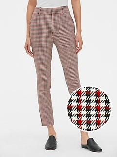 e16dcdad4c7 Plaid Skinny Ankle Pants with Secret Smoothing Pockets
