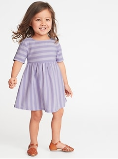 bcd1373e9f Fit   Flare Striped Dress for Toddler Girls