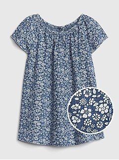 c23e40c1d00657 Baby Floral Denim Dress