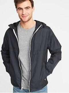 0d2c5ebedec47 Lightweight Jackets. Packable Water-Resistant Hooded Windbreaker for Men