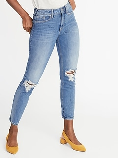 15773044b78 High-Rise Secret-Slim Pockets Distressed Power Straight Ankle Jeans for  Women