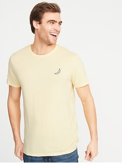 feebdd2e8 Soft-Washed Embroidered Graphic Tee for Men
