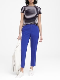 Avery Straight-Fit Stretch Ankle Pant
