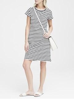 2eea592088b Mixed Stripe Rib Sweater Dress Main color TRUE NAVY WHITE