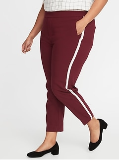 d6b2ba6f657 Mid-Rise Secret-Slim Pockets Plus-Size Side-Stripe Pants