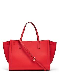 3922beff53a1 Italian Leather Medium Tailored Tote Bag