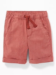 128cdc7c0aa5 Functional Drawstring Built-In Flex Pull-On Madras Shorts for Toddler Boys