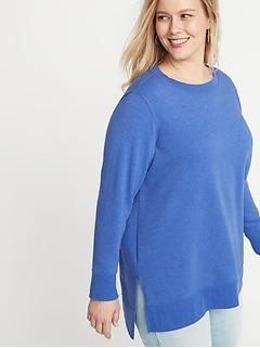 121ac2c4cba French Terry Plus-Size Boyfriend Tunic Sweatshirt