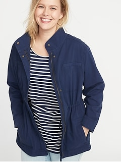 c42b7144b89 Soft-Washed Canvas Plus-Size Field Jacket