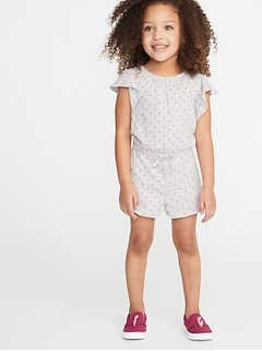 715d8256dace Printed Slub-Knit Jersey Romper for Toddler Girls
