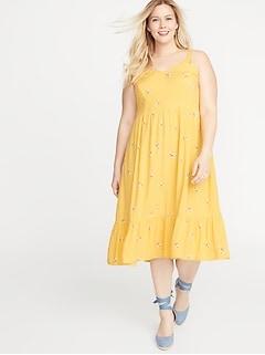e0ec0da8ff7 Plus-Size Fit   Flare Tiered Cami Midi Dress