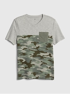 Lovely Children Camouflage Army Print T Shirt Boys Short Sleeve Green Brown Shirt T-shirts, Tops & Shirts Clothes, Shoes & Accessories