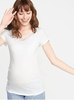 Maternity Clothing Clothes For Pregnant Women Top T-shirt Comfortable White Five Sizes Printing Maternity Accessory Daily Wear Clothing Summer Modern Techniques