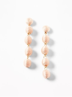 baf970a5874 Thread-Wrapped Beaded Drop Earrings