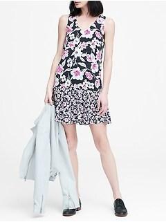 ed80f9ad24f Floral Drop-Waist Shift Dress