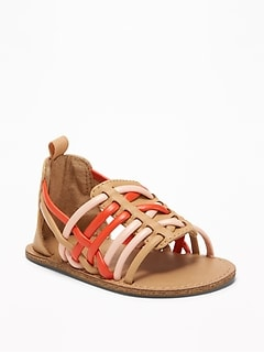 abf95b6d179 Faux-Leather Huarache Sandals for Baby