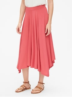 a076f886d Handkerchief Midi Skirt