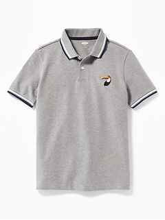 523a72ab87a5 Relaxed Built-In Flex Graphic Polo for Boys