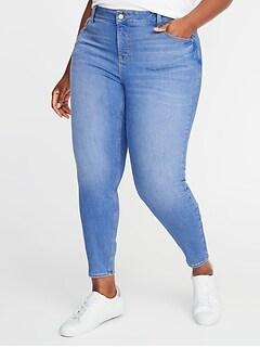 f0700ee0240 High-Rise Secret-Slim Pocket Plus-Size Rockstar Cropped Super Skinny Jeans