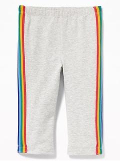 c7e2b5ef84973 Cropped Side-Stripe Jersey Leggings for Toddler Girls