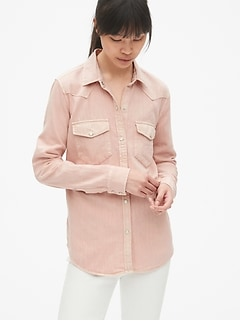 f8952d1d4e0 Denim Western Shirt in Color