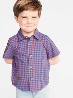b77b194e Toddler Boy Long-Sleeve & Button Up Shirts | Old Navy