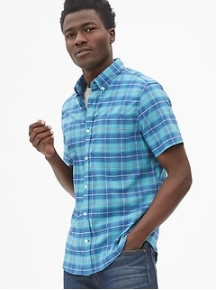 9ffeab57a5 Lived-In Stretch Oxford Short Sleeve Shirt