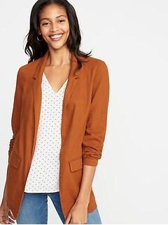 c8ea97a9ae59 Linen-Blend Blazer for Women