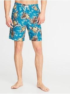 108a7af3710 Printed Swim Trunks for Men - 8-inch inseam