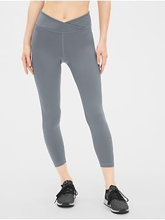 f16b5064599fd GapFit Crossover Waist 7/8 Leggings in Eclipse