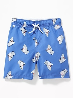 7f2e934d0a Functional Drawstring Printed Swim Trunks for Toddler Boys