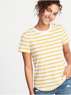 47c59f4b390ca EveryWear Striped Slub-Knit Tee for Women